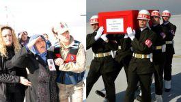 Şehit Annesi oğlunu asker selamıyla karşıladı