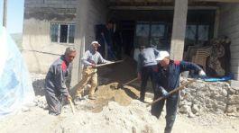 Şehit Annesinin evini Kaymakamlık Bakım onarım yaptırdı