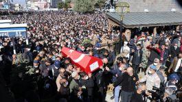 Şehit Askeri Erzurum'da binlerce kişi uğurladı