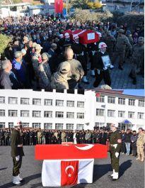 Şehit Askerler Bitlis ve Hatay'da Defnedildi