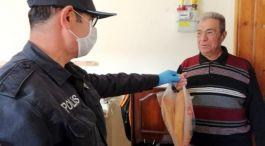 Şehit Babasının Market İhtiyacını Polis Karşıladı
