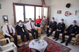 Şehit Binbaşı eşine Kaymakam'dan Ziyaret
