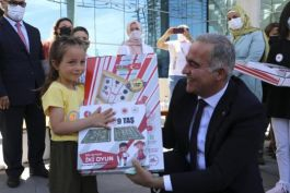 Şehit çocukları için Hediye Karavan tırı Azerbaycan'a ulaştı(Video)