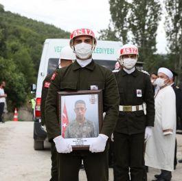 Şehit Er  Samsun'da son yolculuğuna uğurlandı