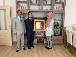 Şehit eşine Devlet Övünç Madalyası verildi