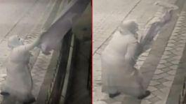 Şehit evindeki Bayrağı kopardı attı Serbest kaldı(video)
