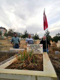 Şehit Gazi Derneği Şehit kabirlerinin bakımını yaptı