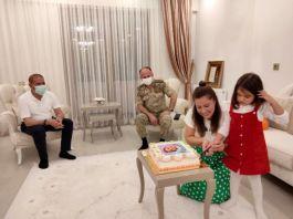 Şehit kızı Eylül'e doğum günü sürprizi