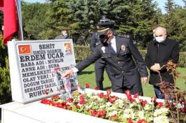 Şehit komiser yardımcısı Polis gününde unutulmadı
