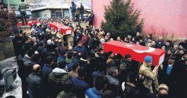 Şehit korucu ve itfaiye erleri Van'da Defnedildi