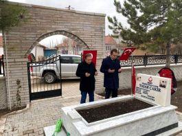 Şehit mezarının çevre düzenlemesi tamamlandı