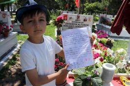 Şehit oğlundan babasına duygulandıran mektup