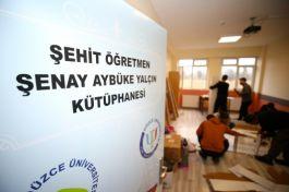 Şehit öğretmen Aybüke'nin ismi köy okulunun kütüphanesinde yaşatılacak