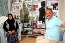 Şehit oğullarının odasını müzeye dönüştürdüler
