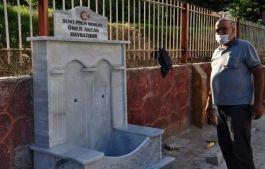 Şehit Polis adına yapılıp, tahrip edilen çeşme yenilendi