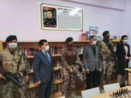 Şehit polis Hüseyin Göral adına kütüphane açıldı