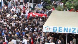 Şehit polisi Denizli'de binler uğurladı