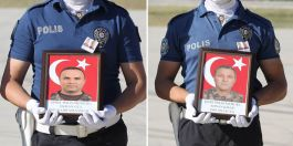 Şehit Polisler düzenlenen törenle memleketlerine gönderildi