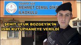 Şehit Ufuk Bozgeyik'in adı kütüphanede yaşatılacak