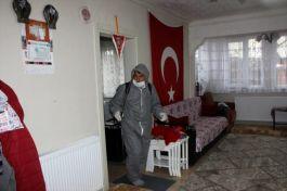 Şehit yakınları ve gazilerin evlerini ücretsiz dezenfekte ettiler