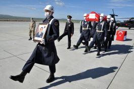 Şehit yüzbaşının cenazesi baba ocağı Memleketine gönderildi