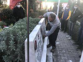 Şehitlerin tahrip edilen mezarlarını Belediye onardı(Video)