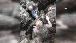 Şemdinli'de teröristlere ait yaşam malzemesi ele geçirildi(Video)