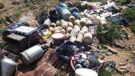 Sığınakta teröristlere ait yaşam malzemeleri bulundu