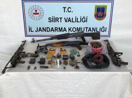Siirt'te teröristlere ait çok sayı mühimmat ele geçirildi