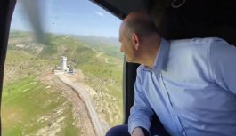 Soylu: Şırnak'ta Cudi Dağında güvenlik kulelerini havadan incelemede bulundu