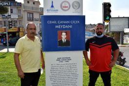 Sporcular Şehit Kavşağını ziyaret etti