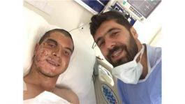 Suriye Afrin'de iki bacağını kaybeden Gazi dünyaevine girdi