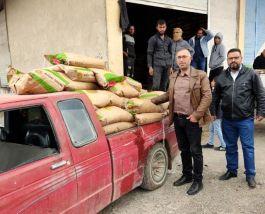 Suriye bölgesindeki çiftçilere 100 ton tohum desteği