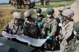 Suriye de  Rusya ile M4 Karayolunda 10.ortak devriye gerçekleştirildi