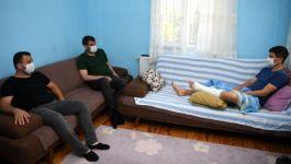 Suriye'de Mayına basarak yaralanan Gaziye Başkan'dan ziyaret