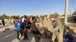 Suriye'de Mehmetçikten insani yardım