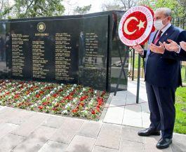Tbmm Başkanı Şehit Diplomatların mezarlarını ziyaret etti