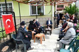 TBMM Başkanı Tekirdağ da şehit ailelerini ziyaret etti