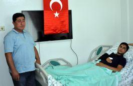 Terör Gazisini evinde ziyaret ettiler