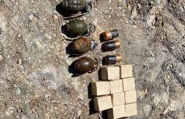 Teröristlere ait el bombaları ve (EYP) düzenekleri ele geçirildi