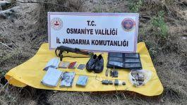 Teröristlere ait mühimmat ve yaşam malzemeleri ele geçirildi