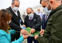 Trabzon Harman tepe Şehitliği'nde çevre düzenleme yapılıyor