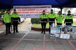 Trafik polislerinden şehitler için lokma hayrı
