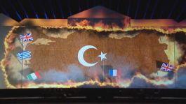 TRT'de ŞOK video Türk Bayrağını yaktılar,yunan,ermeni ve İngiliz Bayrağı ayakta kaldı(Video)
