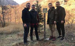 Tunceli'de şehit edilen öğretmen için fidan dikildi