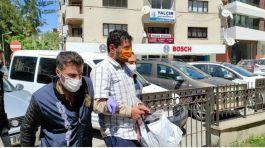 Türk Bayrağına saldıran kişi yakalandı