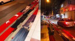 Türk Bayrağını yere serdiler soruşturma açıldı(Video)