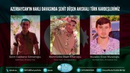 Üç Ahıska Türkü Azerbaycan'da şehit düştü