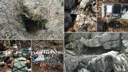 Üç ilçede 7 sığınak 14 mağara imha edildi