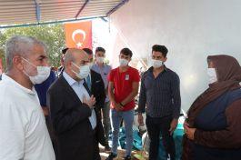 Vali Demirtaş'tan Şehit ailesine ziyaret